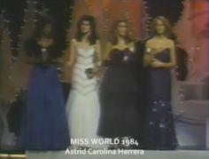 Astrid Carolina Herrera from Venezuela Queen of the America in Miss World 1984.. by Antoni Azocar