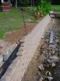 Image result for cement bags retaining walls