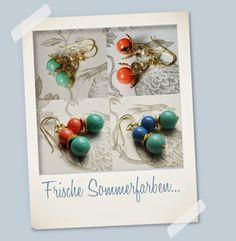 Ohrringe in frischen Farben für den Sommer von Perlotte Schmuck!    Perlotte Schmuck