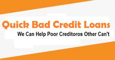 Quick loans bad credit are trouble free finances have planned for poor credit holder in order to manage unexpected fiscal demands with full comfort. www.quickloansbadcredit.ca Quick Loans, Loans For Bad Credit, The Help, Finance, How To Plan, Free, Economics
