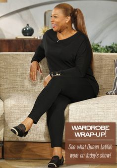 Queen Latifah Wardrobe Wrap-up 10.29.13