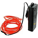 Esky 15ft Portable Neon Glowing Strobing EL Wire with Battery Pack for Parties and Decoration Orange christmas deals week