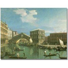 Trademark Fine Art The Rialto Bridge, Venice Canvas Wall Art by Canatello, Size: 24 x 32, Multicolor