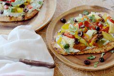 Naan pizza met tzatziki