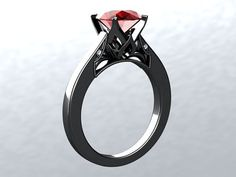 BLOOMED LOVE Collection 14k Black Gold by PristineCustomRings, $990.00
