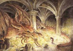 Smaug et Bilbo