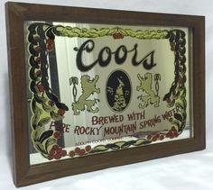 Vintage Beer Mirror Sign