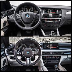 2015 BMW X4 on top.  2015 BMW X6 on bottom