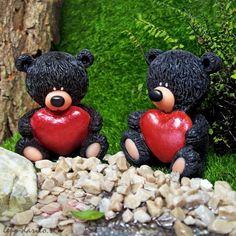 Black bear with a heart 3D soap
