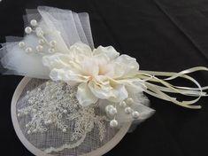 Bridal Fascinator, Wedding Fascinators, Bridal Hat, Wedding Hats, Magnolia Wedding, Steampunk Hat, Tea Party Hats, Derby Hats, Pearl Beads