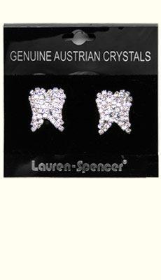 Dental Jewelry: Large Crystal Tooth Earrings   $20