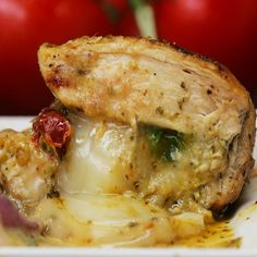 Pesto Stuffed Chicken Recipe by Tasty