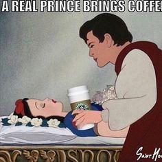 Un verdadero príncipe, no se olvida de ofrecer café... Buenos días Mundo!! #FelizMiercoles
