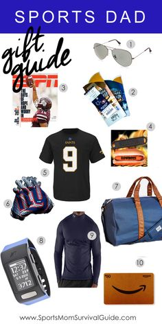 Grab some fun and creative gifts for the sports dad in your life.  Use our Sports Holiday DaD Gift Guide for the guy in your life.