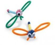 Pipe cleaner, beads, pom, eyes= cute Dragon Fly Craft