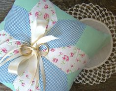 Ring Bearer Pillow Rustic Wedding Quilt Top by TwiningVines
