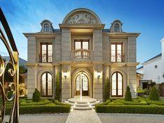 Villa Plan, Villa Design, Modern House Design, Modern Exterior, Exterior Design, House Outside Design, Classic Architecture, Mansions Homes, House Elevation