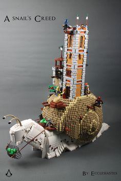 A snail's Creed - Trend Lego Box 2020 Lego Mecha, Lego Bionicle, Lego Design, Legos, Lego Lego, Casa Lego, Lego Dragon, Lego Sculptures, Amazing Lego Creations