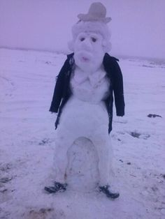 Santa Claus in the snow!!!
