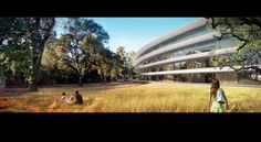 Image 8 of 18 from gallery of Updated Plans Released for Foster + Partners' Apple Campus in Cupertino. Photograph by Foster + Partners, ARUP, Kier + Wright, Apple Apple Campus 2, Norman Foster, Steve Jobs, Apple Headquarters, Rendered Plans, Foster Partners, New Details, Green Building, Auditorium