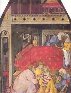 Natività della Vergine, Maestro Lucchese, Siena Pinacoteca Nazionale