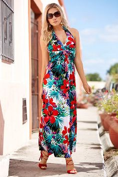Tropical palms maxi dress from Boston Proper