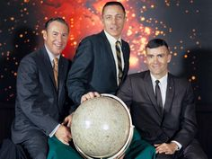 """NASA's Apollo 13 was slated to be the United States' third lunar landing mission. It launched April 11, 1970, at 2:13 p.m. EST from Launch Pad 39A in Florida. From left to right are mission commander Jim Lovell, command module pilot John Swigert and lunar module pilot Fred W. Haise.     The mission was aborted after the service module oxygen tank ruptured. Still, the mission was classified as a """"successful failure"""" because of the experience gained in rescuing the crew."""
