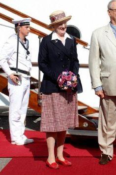 HM Queen Margrethe arrive in Aarhus by the royal yacht Dannebrog to take up residence at Marselisborg Castle. Aarhus, 01.07.2014.
