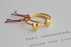 anelli di cuore di due di Twinklebird su Etsy
