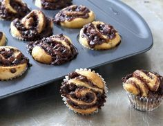 These kosher two-bite chocolate babkas are nut-free and parve and would make a wonderful Yom Kippur break-fast or Rosh Hashanah snack.