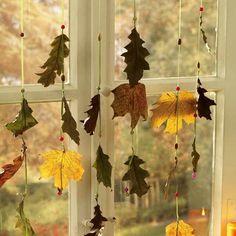 Гирлянда из сухих листьев Первые шаги -1