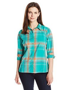 Life is good Women's Down Home Plaid Shirt, Bright Teal, XX-Large