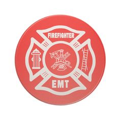 Fire Fighter EMT Beverage Coaster