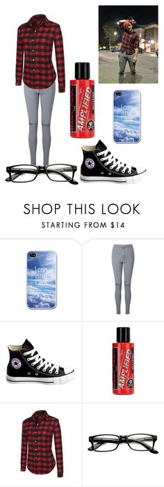 """""""Markiplier Lucky Flannel Outfit"""" by bre-is-a-dork ❤ liked on Polyvore featuring Miss Selfridge, Converse, Manic Panic NYC, WithChic and ZeroUV"""