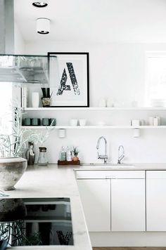 A | Anchor & Bolts #interior #design #white #kitchen #minimal
