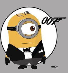 Despicable me minions evil minion purple yellow love 007 James Bond Evil Minions, Cute Minions, Minions Despicable Me, Minions 2014, Minion Stuff, Minion Jokes, Minions Images, Minion Pictures, Minions Quotes
