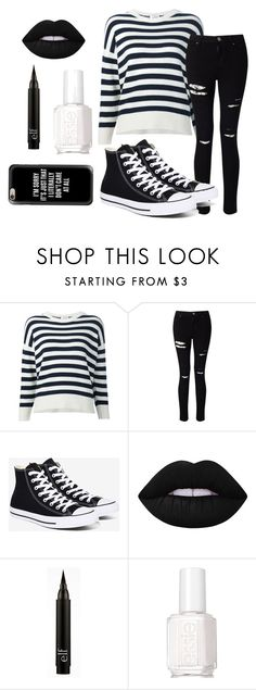 """Untitled #55"" by tenuunl on Polyvore featuring Yves Saint Laurent, Miss Selfridge, Converse, Lime Crime, Essie and Casetify"