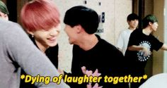 Yoongi's laughing is so fucking adorable. Look at those smiles! I'm DYING