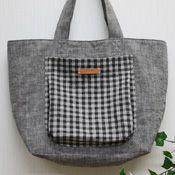 tutorialふっくらポケットのトートバッグの作り方 | 簡単かわいいハンドメイド - 無料型紙 - | BEE FACTORY