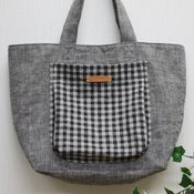 BEE FACTORY | - Free pattern - cute handmade easy | how to make a tote bag of plump pocket