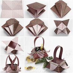 Beautiful Origami Star Box Folding Instructions
