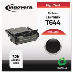 Innovera Remanufactured 64415XA (T644) Toner, 32000 Yield, Black