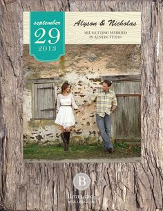 Custom Rustic Wedding Photo Save the Date  Made to by beallara, starts at $20.00