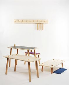 The future of kids design.. kids furniture by Tobias Lindenbeck..This week we have been spreading the newly published Bloesem Gazette volume 2 around Singapore