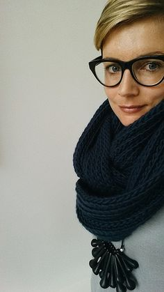 crocheted rib cowl : purl soho by One Flew Over..., via Flickr