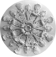 Ceiling ros M)e. Ceiling Coving, Ceiling Detail, Ceiling Rose, Ceiling Design, Mural Art, Wall Murals, Plaster Mouldings, Art Decor, Decoration
