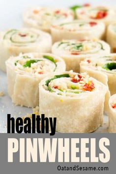🍅Sun-Dried Tomato, Basil and Spinach Pinwheels make a perfect appetizer/light lunch. They take about 15 min + are a healthy alternative to cream cheese. Easy Healthy Recipes, Whole Food Recipes, Vegetarian Recipes, Cheese Appetizers, Appetizers For Party, Vegan Meal Prep, Tomato Basil, Sun Dried, Vegetarische Rezepte