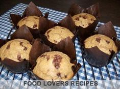 Food Lovers Recipes | CAPPUCCINO CHOCOLATE CHIP MUFFINS Chocolate Chip Muffins, Chips, Lovers, Breakfast, Recipes, Food, Morning Coffee, Potato Chip, Rezepte