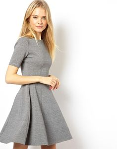 ASOS Structured Skater Dress In Heavy Rib. Winter work dress. Great with a…