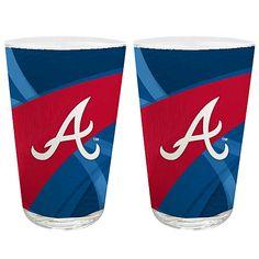 Atlanta Braves Sublimated Pint Glass - 2pack - MLB.com Shop